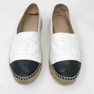 Chanel | Leather Espadrille Flats